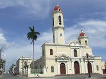 Vecchia chiesa di parrocchia, in Cienfuegos Fotografia Stock Libera da Diritti