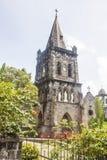 Vecchia chiesa di pietra in Rosseau Dominica Fotografia Stock