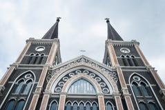 Vecchia chiesa di Roman Catholic Christianity nella provincia di chantaburi fotografia stock