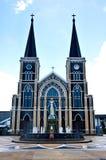 Vecchia chiesa di Roman Catholic Christianity in Tailandia. fotografia stock