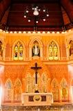 Vecchia chiesa di Roman Catholic Christianity in Tailandia. immagini stock libere da diritti