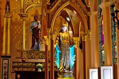 Vecchia chiesa di Roman Catholic Christianity in Tailandia. fotografie stock libere da diritti