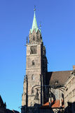 Vecchia chiesa di stile europeo a Norimberga Immagini Stock
