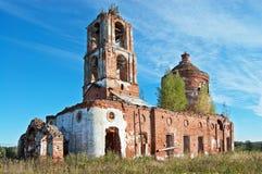 Vecchia chiesa distrussa Immagini Stock