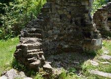 Vecchia chiesa distrutta Fotografia Stock Libera da Diritti