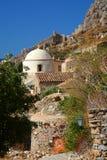 Vecchia chiesa due in Monemvasia, Grecia Fotografie Stock Libere da Diritti