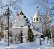 Vecchia chiesa in inverno Fotografia Stock