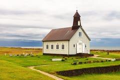 Vecchia chiesa Islanda Fotografia Stock