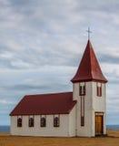 Vecchia chiesa islandese Fotografie Stock