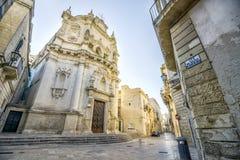 Vecchia chiesa in Lecce, Puglia, Italia immagini stock