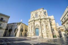 Vecchia chiesa in Lecce, Puglia, Italia immagini stock libere da diritti