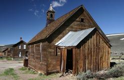 Vecchia chiesa metodista nella città fantasma del Bodie Fotografia Stock