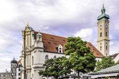 Vecchia chiesa a Monaco di Baviera Immagini Stock Libere da Diritti