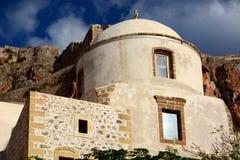 Vecchia chiesa in Monemvasia, Grecia Fotografie Stock