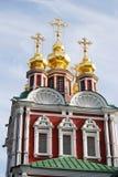 Vecchia chiesa nel convento di Novodevichy a Mosca Fotografie Stock