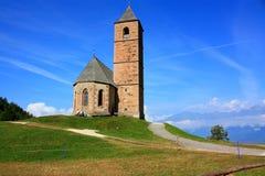 Vecchia chiesa nel Dolomiti Fotografie Stock