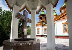 Vecchia chiesa nel Kazakistan Immagini Stock Libere da Diritti