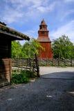 Vecchia chiesa nel parco Scansen Fotografie Stock Libere da Diritti