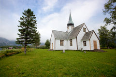 Vecchia chiesa Norvegia fotografia stock