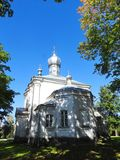 Vecchia chiesa ortodossa bianca, Lituania Immagini Stock Libere da Diritti