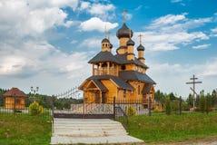 Vecchia chiesa ortodossa di legno Immagini Stock Libere da Diritti