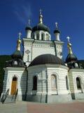 Vecchia chiesa in Phoros fotografie stock