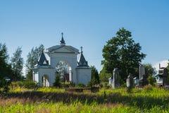 Vecchia chiesa russa in Storojno Fotografia Stock Libera da Diritti