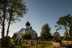 Vecchia chiesa russa in Storojno Immagini Stock