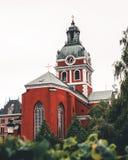 Vecchia chiesa a Stoccolma centrale immagine stock libera da diritti