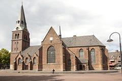 Vecchia chiesa su markt a Wageningen Fotografie Stock