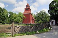 Vecchia chiesa svedese Fotografie Stock