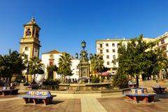 Vecchia chiesa in una città spagnola Immagine Stock Libera da Diritti