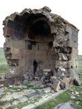 Vecchia chiesa Yeghvard di Zoravar Fotografia Stock Libera da Diritti