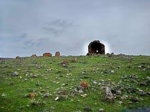 Vecchia chiesa Yeghvard di Zoravar Immagini Stock