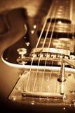 Vecchia chitarra Immagine Stock Libera da Diritti