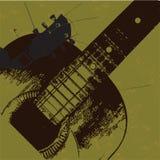 Vecchia chitarra del grunge Fotografia Stock Libera da Diritti