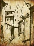Vecchia città royalty illustrazione gratis