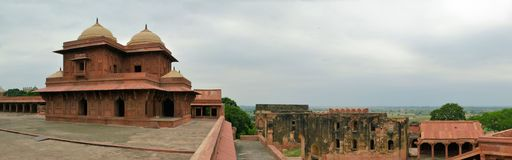 Vecchia città abbandonata Fatehpur Sikri vicino ad Agra, India Fotografie Stock