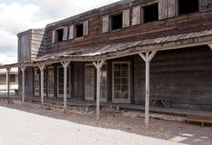 Vecchia città ad ovest selvaggia S.U.A. del cowboy Fotografia Stock Libera da Diritti