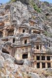 Vecchia città antica Hasankeyf in Turchia orientale Immagini Stock Libere da Diritti