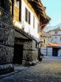 Vecchia città Bansko Fotografia Stock