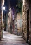 Vecchia città a Barcellona Fotografia Stock Libera da Diritti
