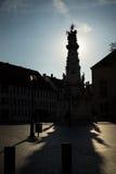 Vecchia città Budapest Ungheria della siluetta Fotografia Stock Libera da Diritti
