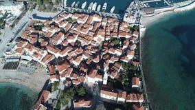Vecchia città Budua Montenegro video d archivio