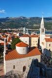Vecchia città in Budua, Montenegro Fotografie Stock