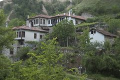 Vecchia città bulgara Melnik fotografie stock libere da diritti