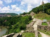 Vecchia città bulgara Tsarevets Veliko Turnovo Fotografie Stock