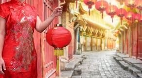 Vecchia città cinese, Lijiang il Yunnan, Cina Immagini Stock Libere da Diritti