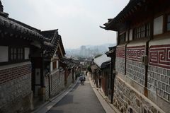 Vecchia città coreana fotografia stock libera da diritti