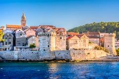 Vecchia città in Croazia Fotografia Stock